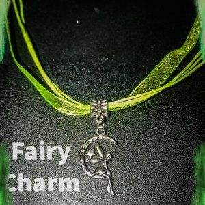 Green choker with Fairy charm